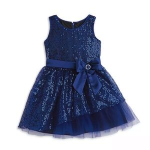 American Girl Blue Sequins Fancy Dress size 12